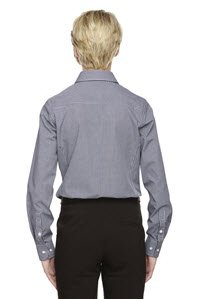 Averill's Sharper Uniforms Women's Ladies Server Fine Gingham Check No-Iron Blouse Large Red Gingham by Averill's Sharper Uniforms (Image #2)