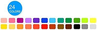 Refaxi まばゆいばかりのカラーロッド水溶性回転ブラシクレヨン油絵スティック子供の絵画スティック学生文具(ブラシ24色24 * 22.5 * 2.3 CM付き)