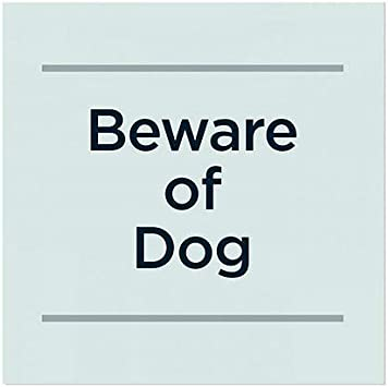 5-Pack Beware of Dog CGSignLab Basic Teal Window Cling 24x24