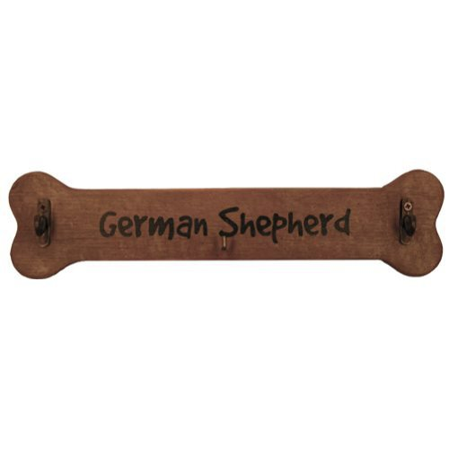 German Shepherd Leash Hook - German Shepherd Calendar Caddy and Leash Hook by J.C.Homan