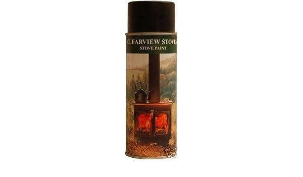 Clearview pintura resistente al calor de la estufa estufas de leña: Amazon.es: Hogar