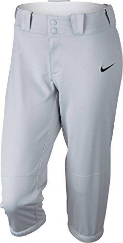 Nike Women's Diamond Invader ¾ Length Fastpitch Pants Small Blue Grey by NIKE