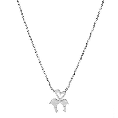 Spinningdaisy Handcrafted Brushed Flamingo Necklace