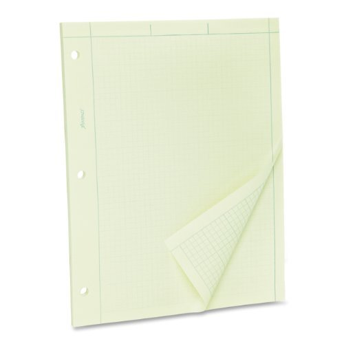 Ampad Evidence Engineering Pad, 100 Sheets, 5 Squares Per Inch, Green Tint, 8 1/2H x 11W by Ampad - Ampad Evidence Square