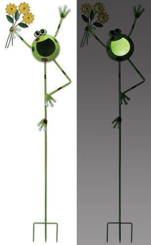 Sunset Vista Designs Dancing Froggy Garden Stake Solar Powered Light, ()