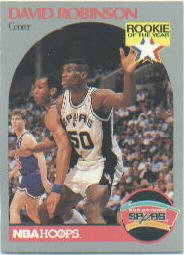 David Robinson 1990 91 Nba Hoops Rookie Of The Year Card 270 Spurs