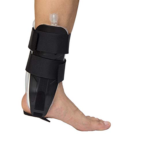 Air & Foam Ankle Stirrup Brace Air Compression Ankle Support Splint Reduce Swelling and Inflammation, Relief Sprains and Arthritis Pain ()
