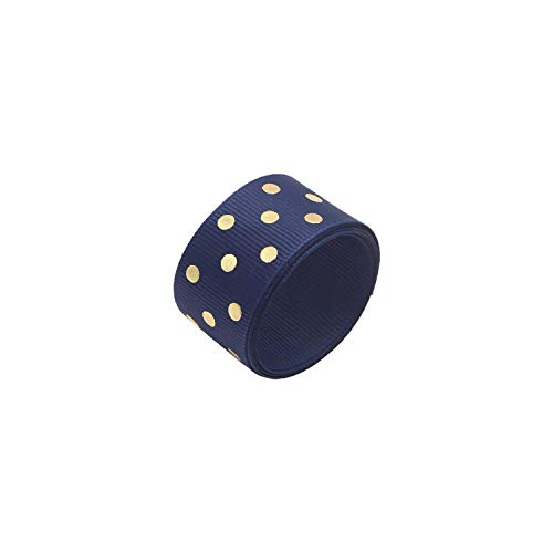 (Ribbons 25mm Grosgrain Dots Printed Ribbons Party Wedding Gift Wrapping Decor DIY Accessories,C4 Navy Blue 5y)