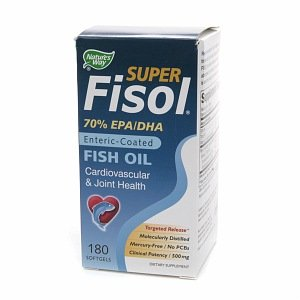 Coated Fisol Oil Enteric Fish (Nature's Way Super Fisol Enteric-Coated Fish Oil 180 ea)