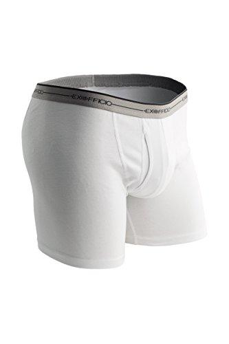 ExOfficio Men's Sol Cool Boxer Brief, White, Large