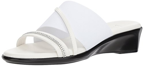ITALIAN Shoemakers Women's Sassy Slide Sandal, White, 8.5 Medium ()
