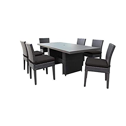 Amazon.com: TK Classics Belle - Mesa de comedor rectangular ...