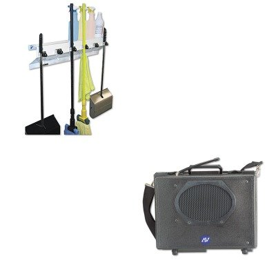 KITAPLSW222EXC3336WHT2 - Value Kit - Amplivox Wireless Audio Portable Buddy Professional Group Broadcast PA System (APLSW222) and Ex-cell The Clincher Mop amp;amp; Broom Holder (Wireless Buddy Pa System)