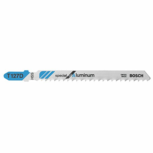 Bosch T127D100 100 pieces 4 In. 8 TPI Special for Aluminum T-Shank Jig Saw Blades