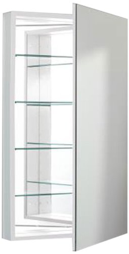 Robern PLM2440W Pl-Series Flat Mirror Medicine Cabinet, White