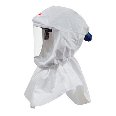 3M Standard Polypropylene S-Series Versaflo White Hood Assembly With Inner Collar And Premium Head Suspension (For Use With Certain 3M Powered Air Purifying And Supplied Air Respirator Systems)