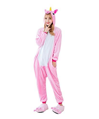 Cuddly Unicorn Onesie Pajamas Animal Costume Sleepwear with