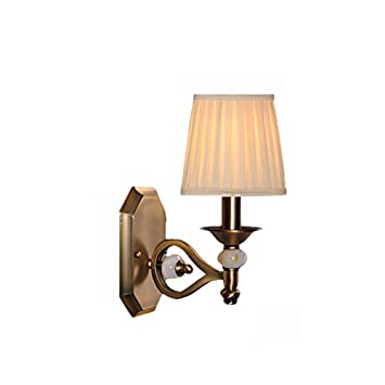 Asl Retro Antike Kupfer Nachahmung Jade Wand Lampe Schlafzimmer