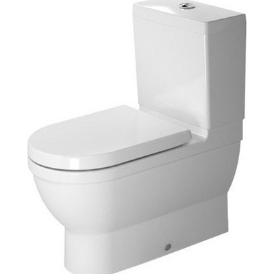 Duravit 2141090092 White Starck 3 Toilet Close-Coupled Washdown Model Without Cistern/Tank Close Coupled Toilet Cistern