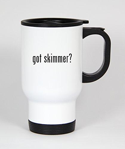 got skimmer? - 14oz White Travel Mug