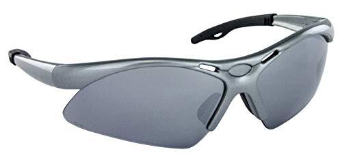 SAS Safety 540-0103 Diamondback Eyewear with Polybag, High-Impact Polycarbonate Lens; Smoke Mirror Lens/Silver Frame (Smoke Diamond)