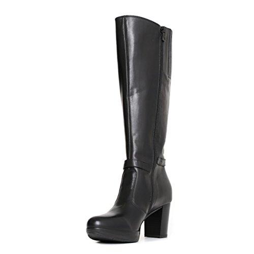 rivenditore di vendita 3c452 1d77b Nero Giardini donna stivali neri A719852D scarpe in pelle ...