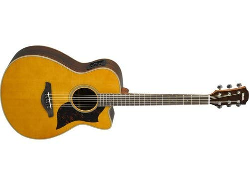 Yamaha 6 String Series AC1R Small Body Cutaway Acoustic-Electric Guitar-Rosewood, Vintage Natural, Concert VN
