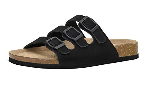 CUSHIONAIRE Women's Lela Cork Footbed Sandal with +Comfort