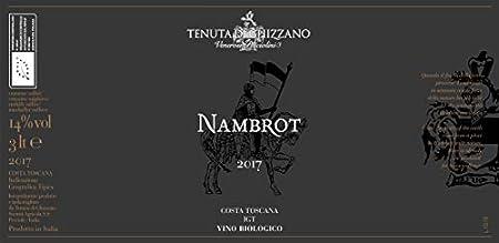 Tenuta di Ghizzano - Nambrot 2017 - Vino Tinto BIO I.G.T. Costa Toscana. Vino Premiado, Dedicado al Caballero de Carlomagno Franco Nambrot - Doblemagnum 3 Litros