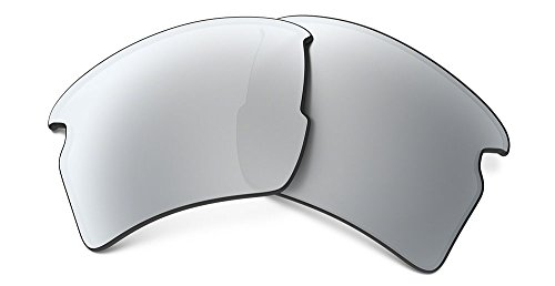 Oakley Mens 101-355-010 Flak 2.0 Replacement Lense Kit, Chrome - Sunglass Replacement Parts Oakley