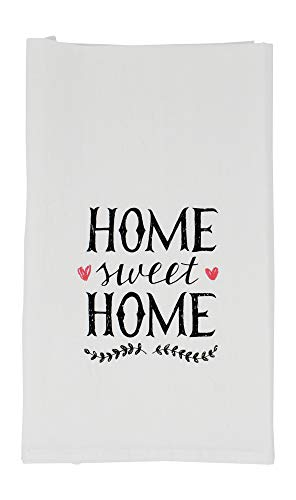 - Nino and Baddow Home Sweet Home Funny Dishcloth Tea Towel Screen Printed Flour Sack Cotton Kitchen Table Linens