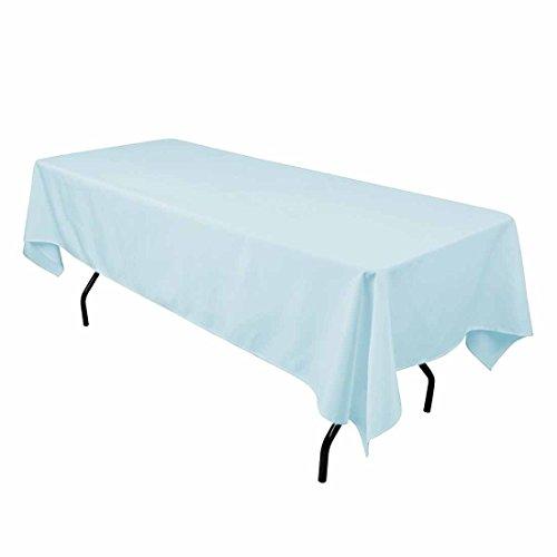 Pastel Blue Linen - Gee Di Moda Rectangle Tablecloth - 60 x 102