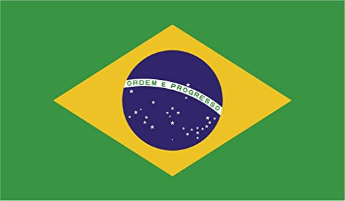 JMM Industries Brazil Flag Vinyl Decal Sticker República Federativa do Brasil Car Window Bumper 2-Pack 5-Inches by 3-Inches Premium Quality UV-Resistant Laminate PDS394 ()