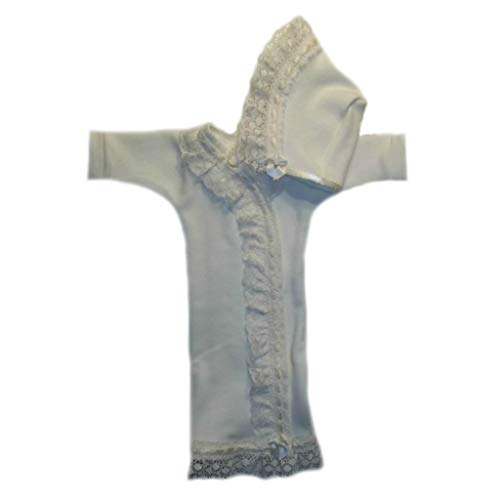 Jacqui's Baby Girls' Gorgeous Ivory Lace Gown and Bonnet Set, Micro Preemie