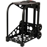 Zuca Sport Frame (Black) with Built-In Seat, Telescoping Handle, and Flashing Wheels (for any Sport Insert Bag)