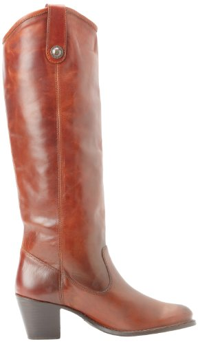 Frye Womens Jackie Button Boot Cognac Soft Vintage Leather-76576