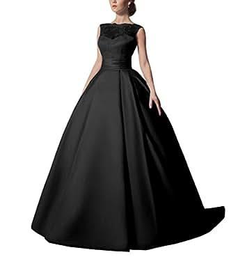 Kiss rain women 39 s satin a line sleeveless lace wedding for Amazon cheap wedding dresses