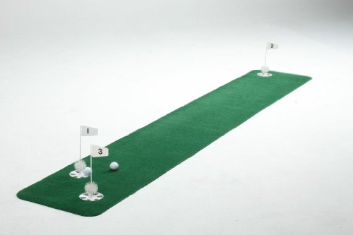StarPro s Pro-Am 3-Hole Practice Green. Rolls Out Perfectly Flat, True Realistic 1.5 x9