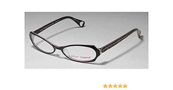 9c0de1efa3f Amazon.com  Betsey Johnson Jungle Princess Bj0106 Womens Ladies Designer  Full-rim Eyeglasses Eye Glasses (52-16-135
