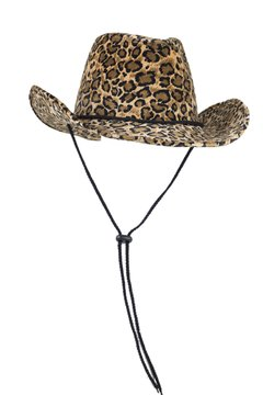 CAPTAIN FLOATY Womens Cowboy, Cowgirl Hat - Felt Western Cowboys Hats for Men Women Ladies and Girls (Leopard Print)