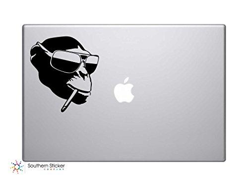 Smoking Monkey in Sunglasses Vinyl Car Sticker Symbol Silhouette Keypad Track Pad Decal Laptop Skin Ipad Macbook Window Truck - Ccs Sunglasses