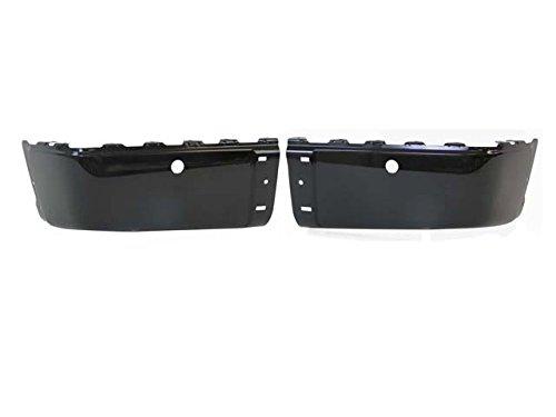 Painted True Black Rear Bumper Cap/End Set 2007-2013 Silverado With Sensor Hole GM1104148 ()
