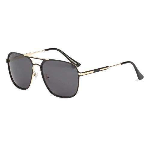 Polarized Sunglasses Men's HD Double Beam Box Sunglasses European and American Driver Sunglasses (2 Pack) (Cat Eye Wayfarer Sonnenbrille)