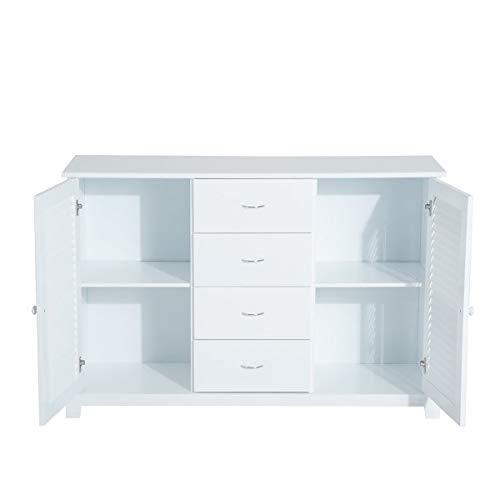 YRW ONDER Schließfach Sideboard Kommode Tür Weiß, Wohnzimmerschrank, Geeignet Für Wohnzimmer, Schlafzimmer Möbel