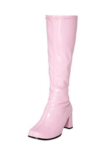 Høye Kne Uk Partiet Kjole Størrelse Støvler Rosa Fancy 4 d5xq10w5a