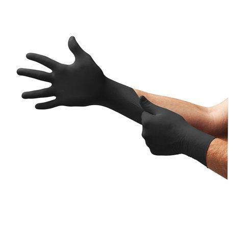 Microflex BD-1003-NPF Black Nitrile Dragon Zero Powder-Free Medical-Grade Exam Gloves, Large (Pack of 1000)