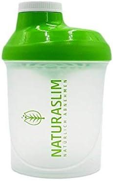 Naturaslim Coctelera de proteínas sin BPA, fácil limpieza, 300 ml, color verde