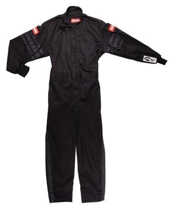 RaceQuip Unisex-Child Kids Single Layer Suit (Black, Large)
