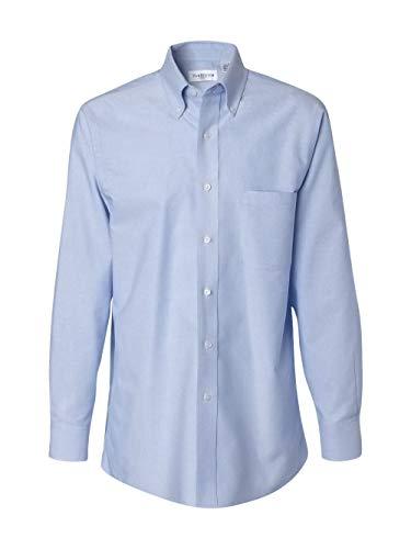 - Van Heusen Men's Long Sleeve Oxford Dress Shirt, Blue, Medium