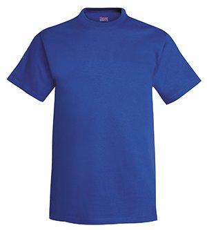 Hanes Men's Short Sleeve Beefy-T, Deep Royal, (Royal Blue Group)